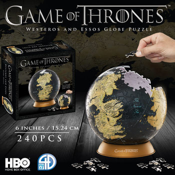 Puzzle  Hra o Trůny (Game of Thrones) - 4D Globe