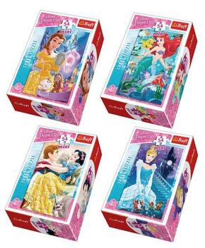 Puzzle Krásné Disney princezny 4v1