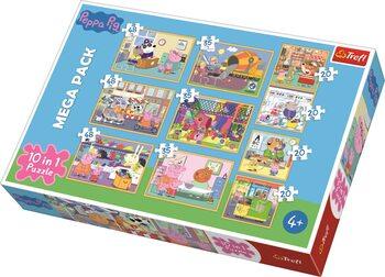 Puzzle Prasátko Pepa 10v1