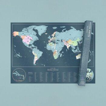 Stírací mapa Rainbow Edition