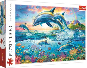 Puzzle Rodina delfínů