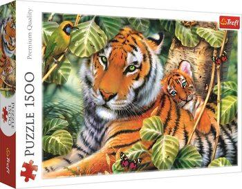 Puzzle Tygr s mládětem