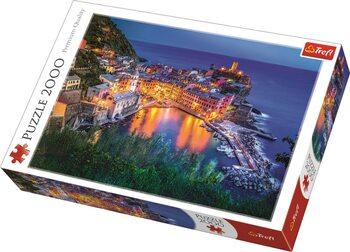 Puzzle Vernazza za soumraku, Itálie