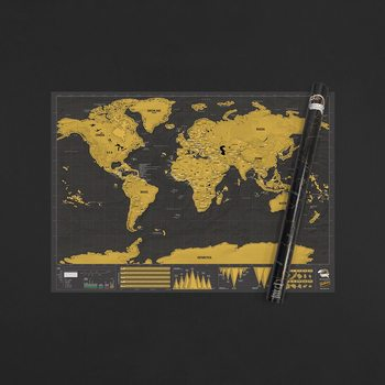 Stírací mapa World Deluxe Edition XL