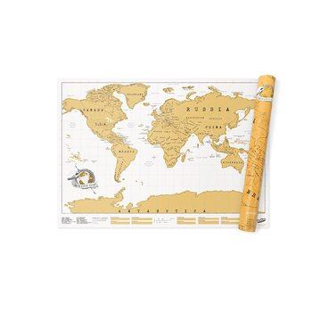 Stírací mapa World