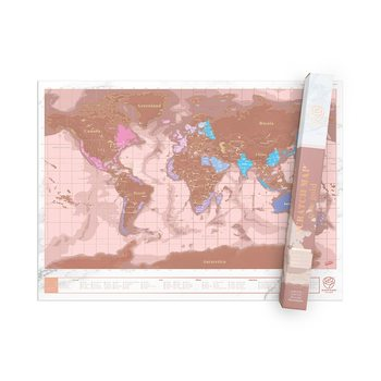 Stírací mapa  World Rose Gold Edition