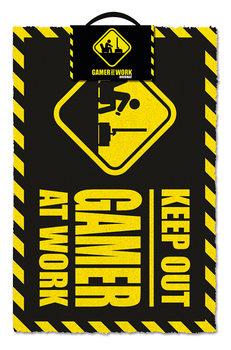 Gamer At Work - Keep Out Dørmatte