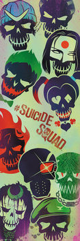 Suicide Squad - Faces Dørplakater