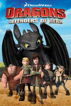 DRAGONS - Defenders Of Berk - плакат (poster)