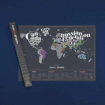 Scratch Map Typogeography Edition