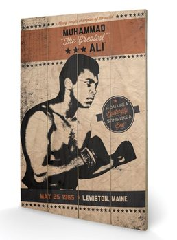 MUHAMMAD ALI - fighter vintage Drvo