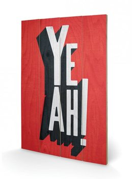 Bild auf Holz Edu Barba - Yeah