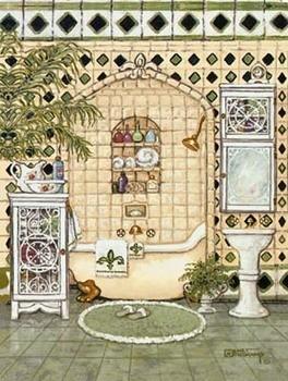 Elegant Bath IV Festmény reprodukció