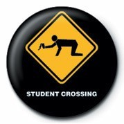 Emblemi WARNING SIGN - STUDENT CRO