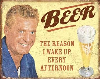 EPHEMERA - BEER - The Reason Metalen Wandplaat