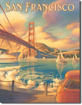 ERICKSON - golden gate Metalplanche