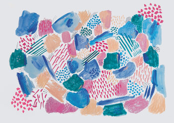 Illustration Abstract mark making