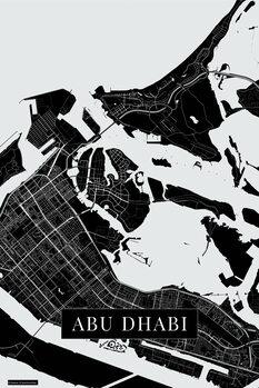 Karta över Abu Dhabi black