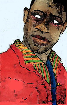 Konsttryck Afro-american man