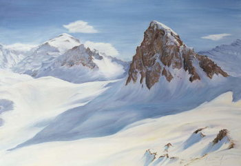 Konsttryck Alpine Shadows, 2000