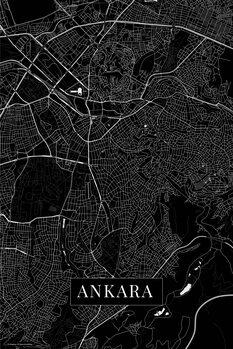 Karta över Ankara black