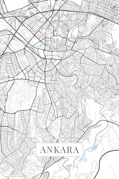 Karta över Ankara white