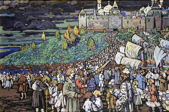 Konsttryck Arrival of the Merchants, 1905