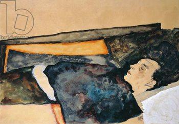 Konsttryck Artist's mother sleeping