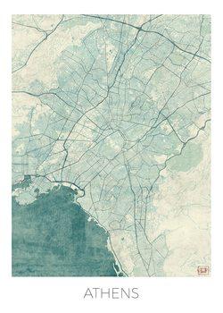 Karta över Athens