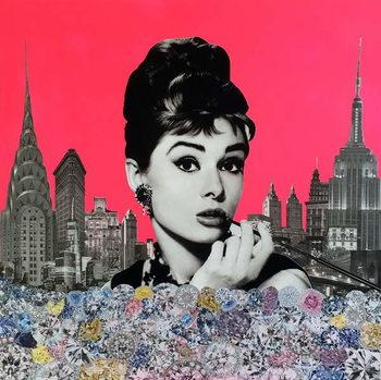 Konsttryck Audrey Hepburn, 2015,
