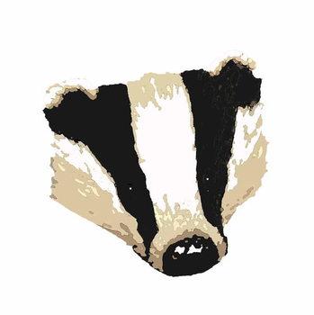 Konsttryck Badger