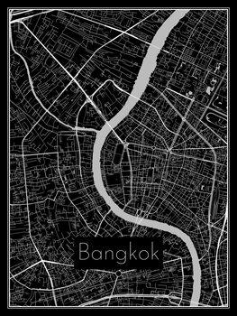 Karta över Bangkok