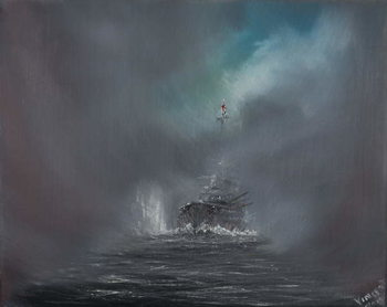 Konsttryck Battle of Jutland 31st May 1916, 2014,