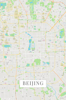 Karta över Beijing color