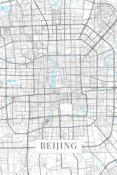 Karta över Beijing white