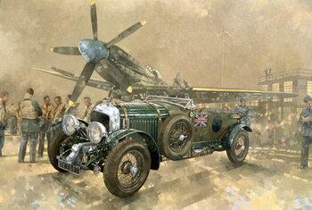Konsttryck Bentley and Spitfire