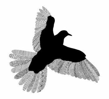 Konsttryck Bird Line Art