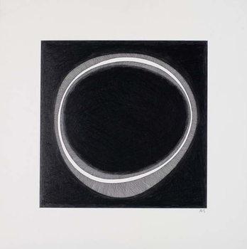 Konsttryck Black Circle
