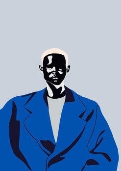 Konsttryck Blue Coat, 2016,