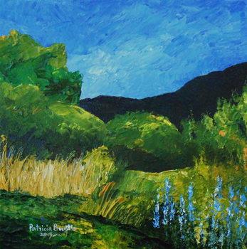 Konsttryck Blue Lupines, 2015