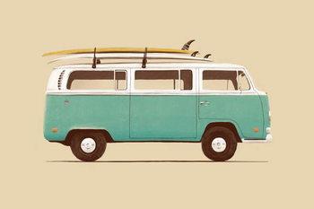 Konsttryck Blue Van