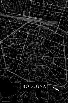 Karta över Bologna black