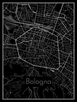Karta över Bologna