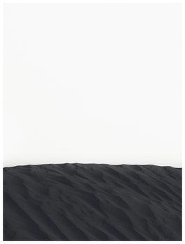 Illustration border black sand