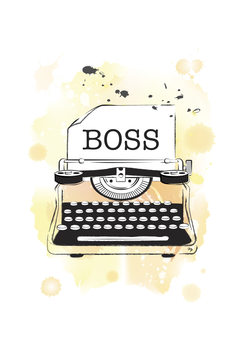 Illustration Boss Typeweiter