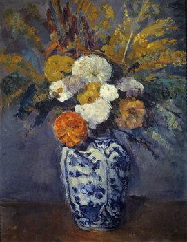 Konsttryck Bouquet of dahlias.