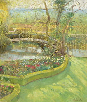 Konsttryck Bridge Over the Willow, Bedfield