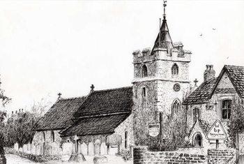 Konsttryck Brighstone Church I.O.W., 2008,
