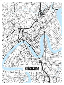 Karta över Brisbane