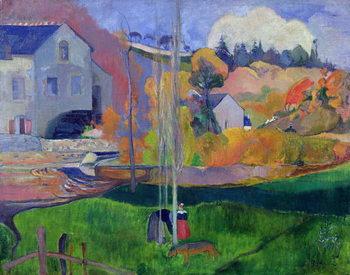 Konsttryck Brittany Landscape: the David Mill, 1894
